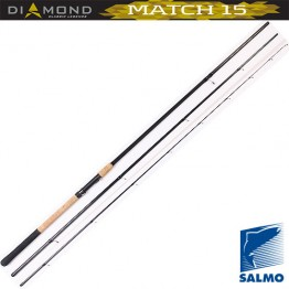 Удилище матчевое SALMO Diamond Match 15 ,углеволокно,  3,9 м, тест: 4-16 гр , 202 г